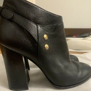 Dolce & Gabbana Black Block Heel Booties